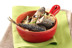 Spiced mackerel with potatoes Royalty Free Stock Image