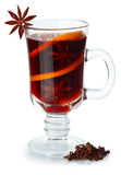 Spiced mulled wine isolated on white background Stock Image