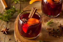 Spiced Mulled Wine with Oranges Royalty Free Stock Photography