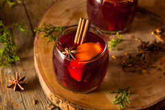 Spiced Mulled Wine with Oranges Stock Photos