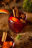 Spiced Mulled Wine with Oranges Royalty Free Stock Photo