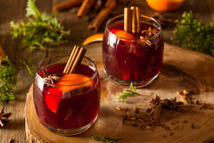 Spiced Mulled Wine with Oranges Royalty Free Stock Images