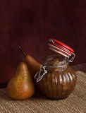 Spiced pears chutney Stock Photos