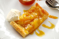 Spiced Pineapple Galette Stock Photo