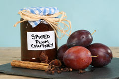 Spiced plum chutney Stock Image