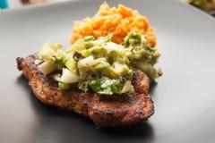 Spiced Pork Chop stock photos
