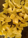 Spiced potatoes Stock Photography