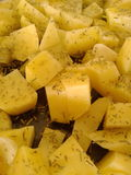 Spiced potatoes Stock Photos