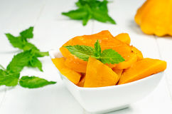 Spiced pumpkin in a white bowl Royalty Free Stock Photography