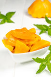 Spiced pumpkin in a white bowl Royalty Free Stock Images
