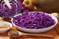 Spiced Red Cabbage Ingredients Stock Photos