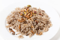 Spiced rice in a the Arab style Royalty Free Stock Photography