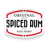 Spiced Rum vintage stamp Royalty Free Stock Images