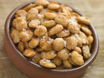 Spiced and Salted Macadamia Nuts Stock Photo