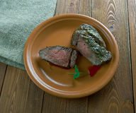Spiced Silverside Beef. Spiced Corned Silverside Beef close up Stock Image