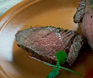 Spiced Silverside Beef. Spiced Corned Silverside Beef close up Royalty Free Stock Image