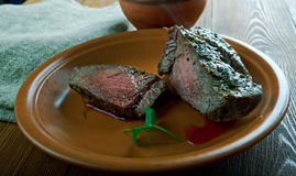 Spiced Silverside Beef. Spiced Corned Silverside Beef close up Royalty Free Stock Photography