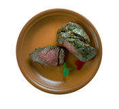 Spiced Silverside Beef. Spiced Corned Silverside Beef. close up Stock Image