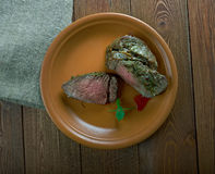 Spiced Silverside Beef. Spiced Corned Silverside Beef close up Royalty Free Stock Photo