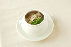 Spiced sliced pork soup. Chinese cuisine. yumcha, chinese food Royalty Free Stock Photos