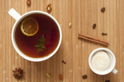 Spiced tea and coffee Royalty Free Stock Photos