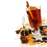 Spiced tea and sweets Stock Photography