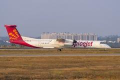 SpiceJet-luchtvaartlijn-Voorraad beeld Royalty-vrije Stock Afbeelding