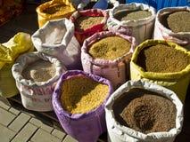 Spicery on an african bazar Royalty Free Stock Photos