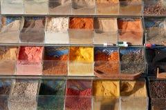 Spicery op de markt in Egypte Royalty-vrije Stock Foto's
