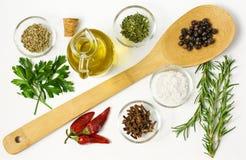 spices белизна Стоковые Фотографии RF