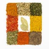 Spices макрос украшенный как рамка Стоковое Изображение RF