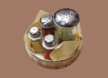 Spices. Four kinds of spices in a box Royalty Free Stock Photo