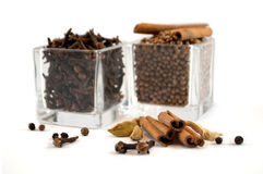 Spices. Isolated on white background Royalty Free Stock Images