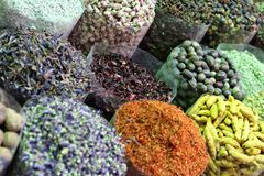 Spices. Colorful spices on the market in Dubai Stock Images