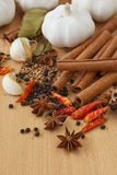 Spices. Variety of Spices and herbs,Food and cuisine ingredients Royalty Free Stock Photo