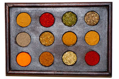 Spices. A image from a box that contain spices Stock Images
