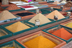 Spices. Alternative medicine products in the market Stock Image