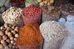 Spices. Collection of Arabian Spices in Dubai Market Stock Photos