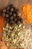 Spices. Group of spices in background of wood Stock Image