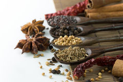 Spices. An assortment of different spices for cooking Royalty Free Stock Photography