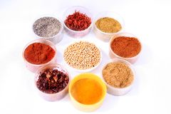 Spices. Assortment of spices for prepare tasty food stock photo