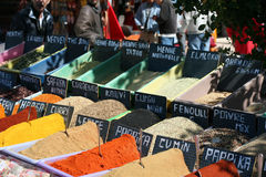 Spices. On a arabic bazaar - souk Royalty Free Stock Photography
