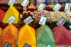 Spices. On a retail market of Istanbul Royalty Free Stock Photography