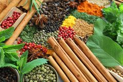 Free Spices And Herbs. Stock Images - 128514084