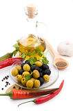 Spices And Olive Oil Stock Photo