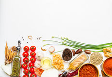 Spices And Vegetable For Healthy And Cooking. Stock Photography