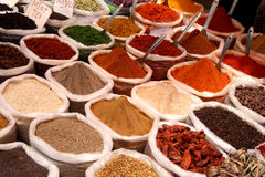 Spices at Anjuna flea market in Goa, India Royalty Free Stock Photo