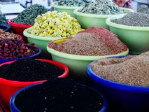 Spices at arabian market. Royalty Free Stock Images