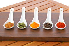 Spices background Stock Photos