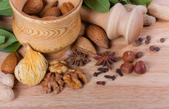 Spices background Stock Images